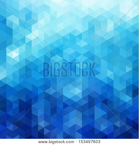 Abstract blue triangles pattern geometric background