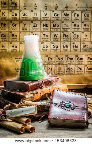 Research Of The New Element In Chemical Laboratory
