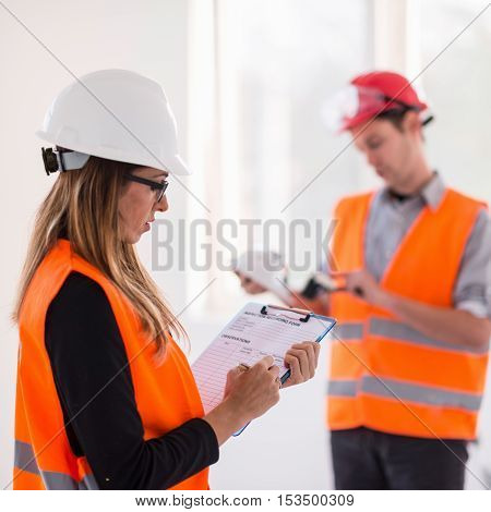 Maintenance Engineering On Construction Site Checking Light