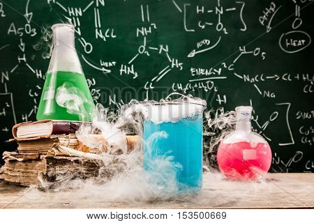 Checking The Chemical Formula In University Lab