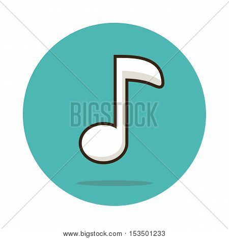 Music note icon vector illustration eps 10