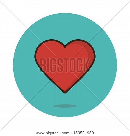 Flat heart icon vector illustration eps 10