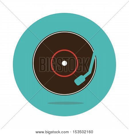 Vinyl record icon vector illustration eps 10