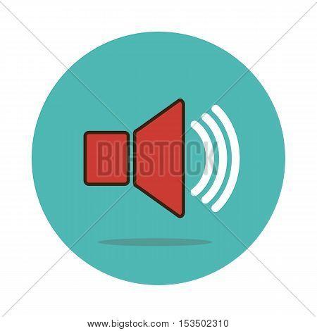 Audio speaker volume icon vector illustration eps 10