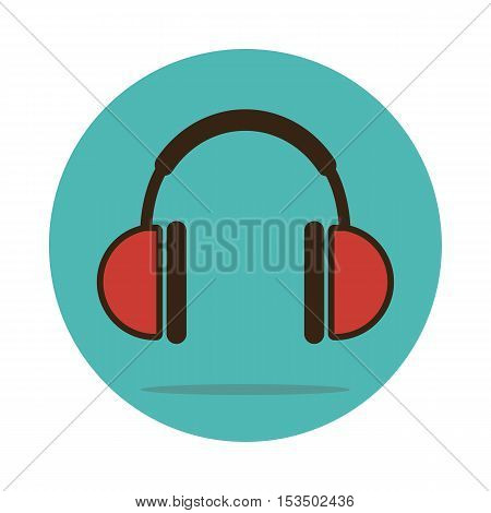 Headphone icon vector illustration. Musical sign eps 10