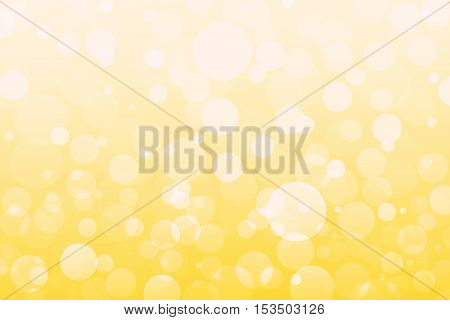 Abstract Yellow, Orange, Golden Lights, Bokeh Background