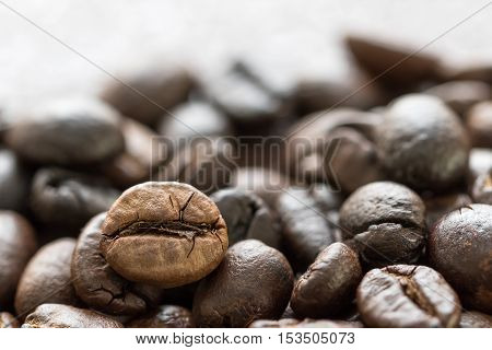 Heap Of Roasted Brown Coffee Beans