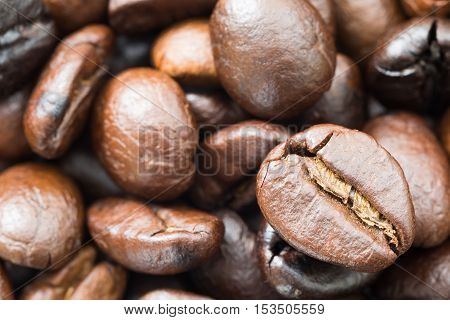 Heap Of Roasted Roasted Brown Coffee Beans