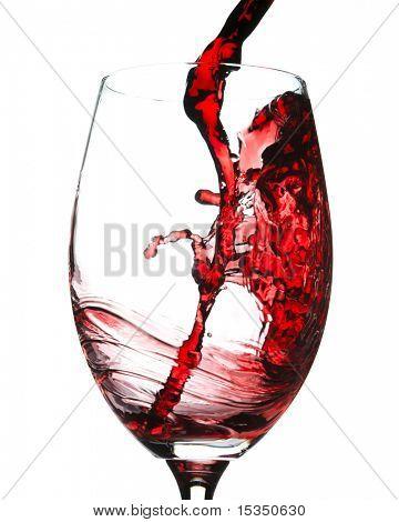 Splash de vino tinto