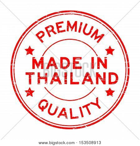Grunge red premium quality made in Thailand rubber stamp