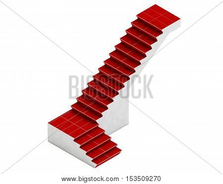 Isometric staircase 3d render staircase metallic staircase staircase isolated staircase outdoor staircase exterior steps ladder stairway house staircase staircase