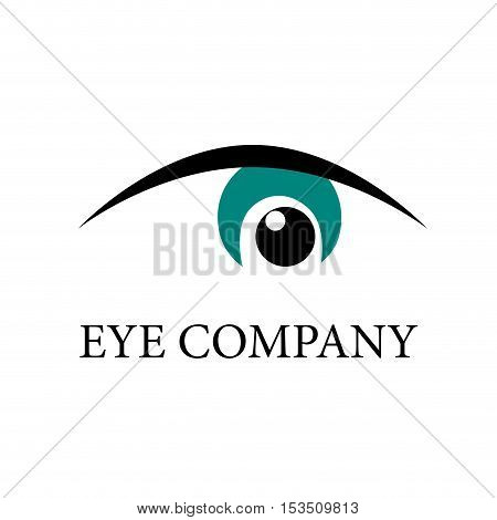 Vector logo flat Eye Motion, illustration isolated