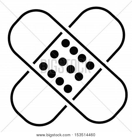 adhesive plaster line icon, linear pictogram isolated on white background