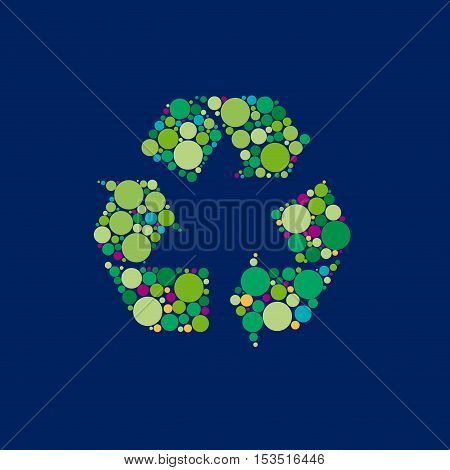 Vector sign recycle, abstract shape, isolated illustration