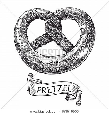 Pretzels. Vector sketch on a white background