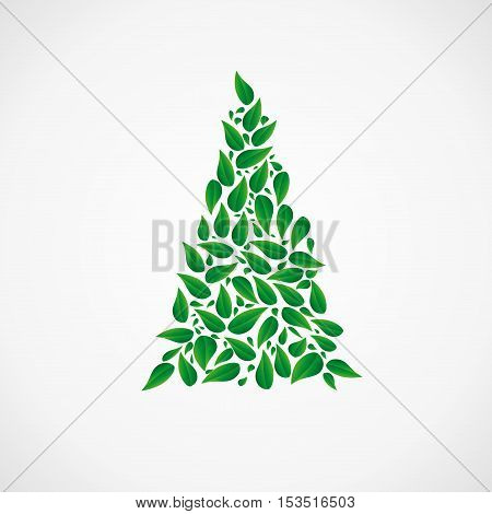 Vector sign Abstract Tree, abstract shape, isolated illustration