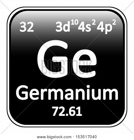 Periodic table element germanium icon on white background. Vector illustration.