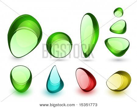 Abstract glass stones