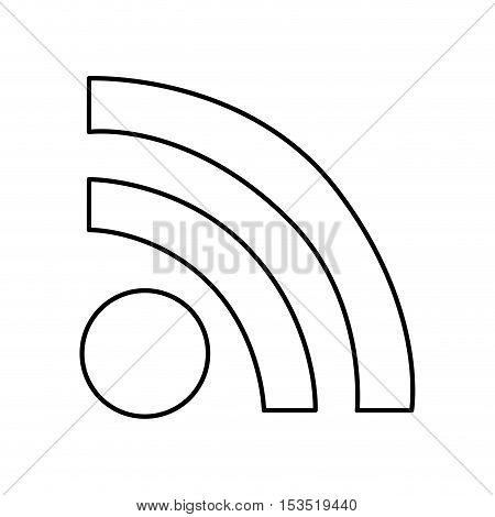 wifi signal pictogram icon image vector illustration design