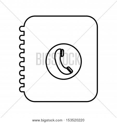 phone book pictogram icon image vector illustration design