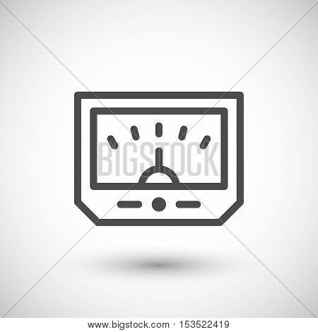 Meter line icon isolated on grey. Vector illustration