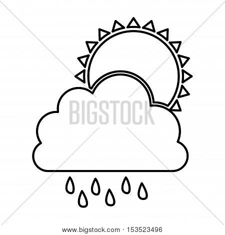 cloud and rain icon image vector illustration design