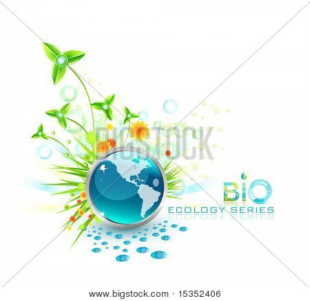 High detailed natural background. Protect your Earth. Concept