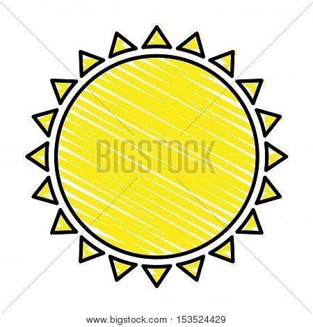 sun representation icon image vector illustration design