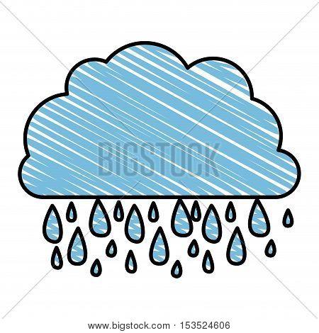 rain and cloud icon image vector illustration design
