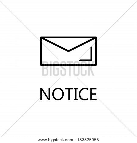 Envelope line icon. Vector concept illustration for design. High quality outline pictigram for design website or mobile app. Vector thin line illustration of envelope.