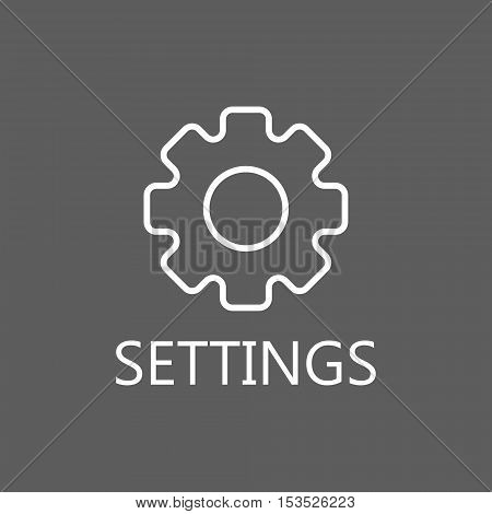 More information line icon. Vector concept illustration for design. High quality outline pictigram for design website or mobile app. Vector thin line illustration of gear.