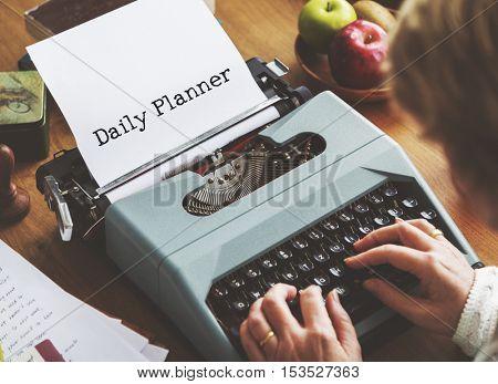 Daily Planner Organizer Notice Concept