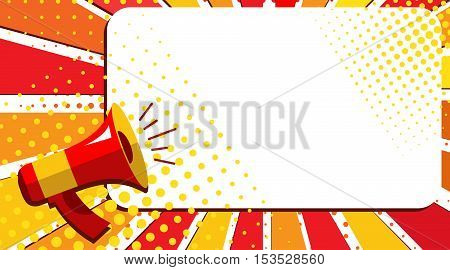 Megaphone Hand, Business Concept With Text April Sale, Illustration