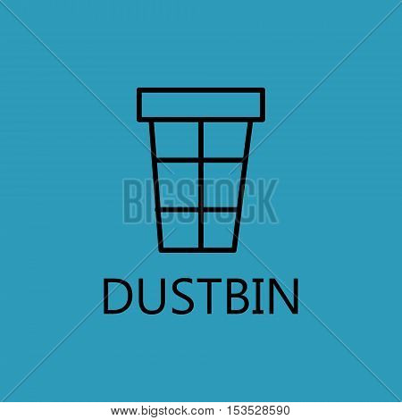 Trash can line icon. Web dustbin line icon. High quality outline pictigram for design website or mobile app. Vector thin line illustration of trash, dustbin.