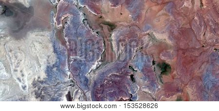 earth colors, Abstract photography of landscapes of deserts of Africa from the air