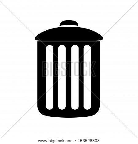 trash can icon image vector illustration design