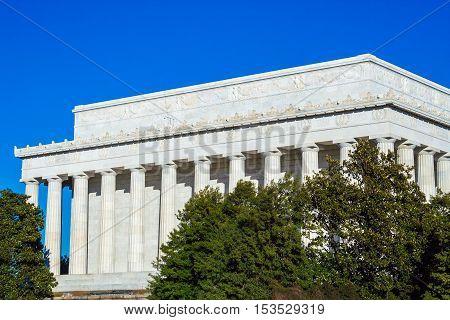Lincoln Memorial At Summer, Washington Dc, Usa