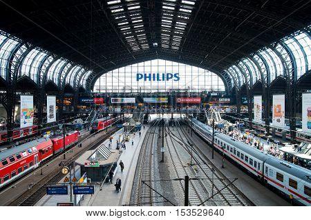 HAMBURG GERMANY - JUNE 12 2015: German regional express