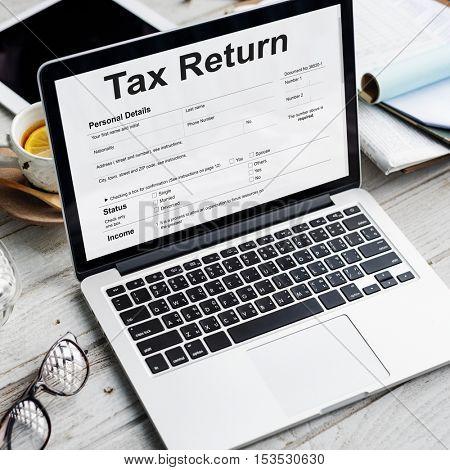 Income Tax Return Deduction Refund Concept