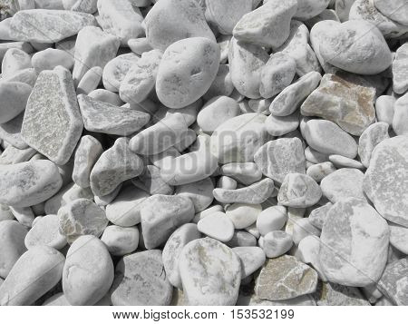Texture of pebbles from a beach shore