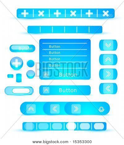 Blue web2.0 elements