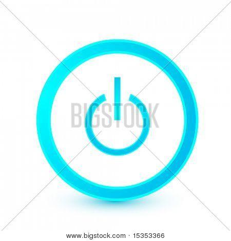 Botón de inicio azul