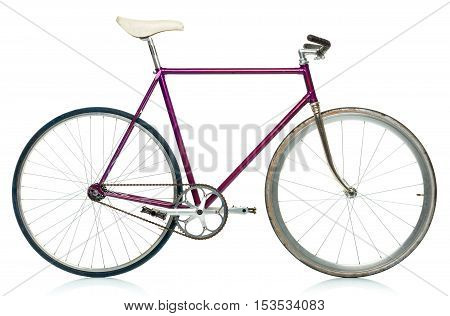 Stylish hipster bicycle isolated on white background