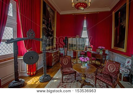 CASTLE OF BLOIS, BLOIS, FRANCE - CIRCA JUNE 2014: The interior of the Blois Castle in circa June, 2014. Blois is chateau in  the town of Blois in the Loire valley, UNESCO World Heritage Site.