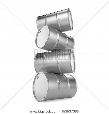 3D Rendering Aluminum Barrel