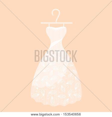 Stylish women's dress on a beige background.