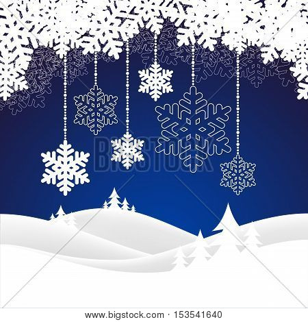 Winter background with snow. Christmas snow surface. vector illustration