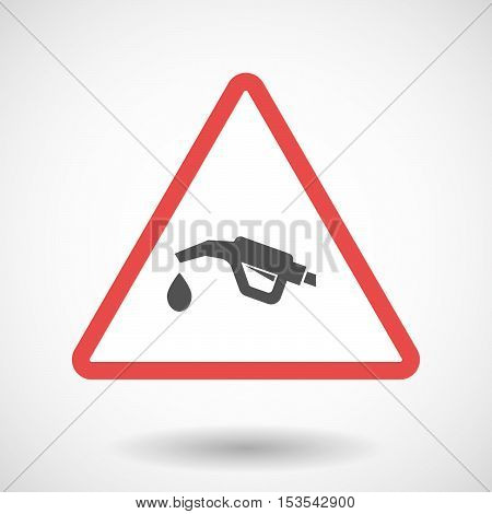 Isolated Warning Sign Icon With  A Gas Hose Icon