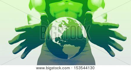 Global Business and Market Leader Company as Concept 3d Illustration Render