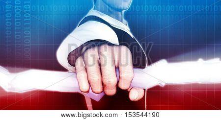Digital Surveillance and Ethics of Online Privacy 3d Illustration Render